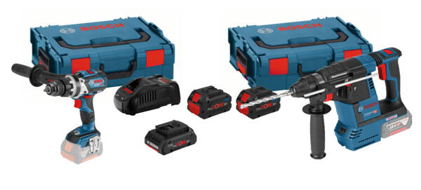 Martello perforatore a batteria Brushless GBH 18 V-26 e trapano battente-avvitatore GSB 18 VE-85 3 Batterie ProCORE (2x8Ah + 1x4Ah) Professional Bosch